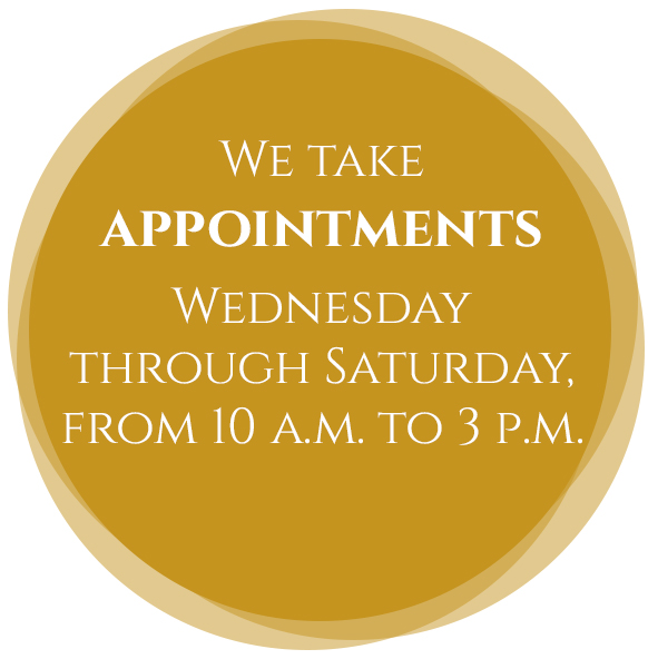 We take appointments Wednesday through Sunday, by La Rose in Milton, ON