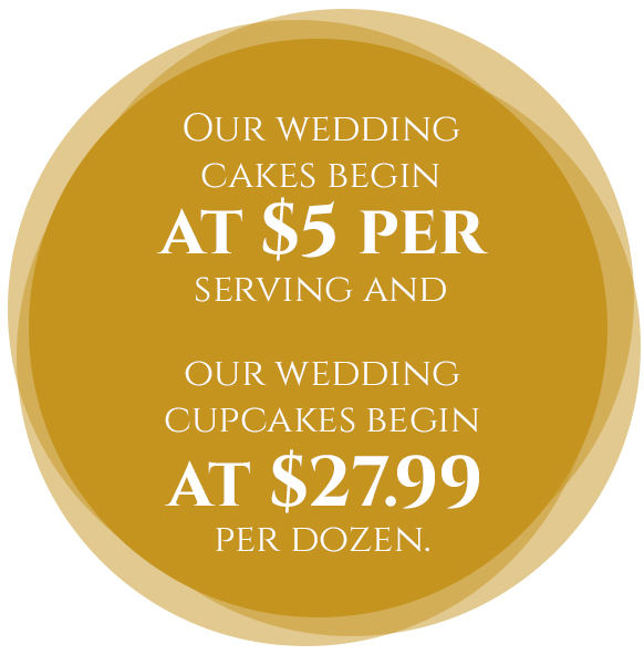 Our wedding cakes begin at $5 per serving, by La Rose in Milton, ON