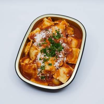 All-beef Ravioli in La Rose Tomato Basil Sauce