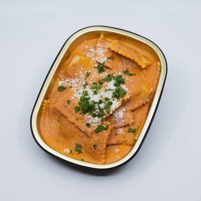 Squash Ravioli in Rosee Sauce La Rose
